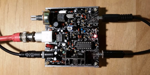 Top view of Frog Sounds QRP PCB